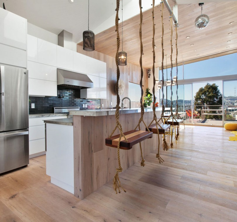 Inside a bright modern home