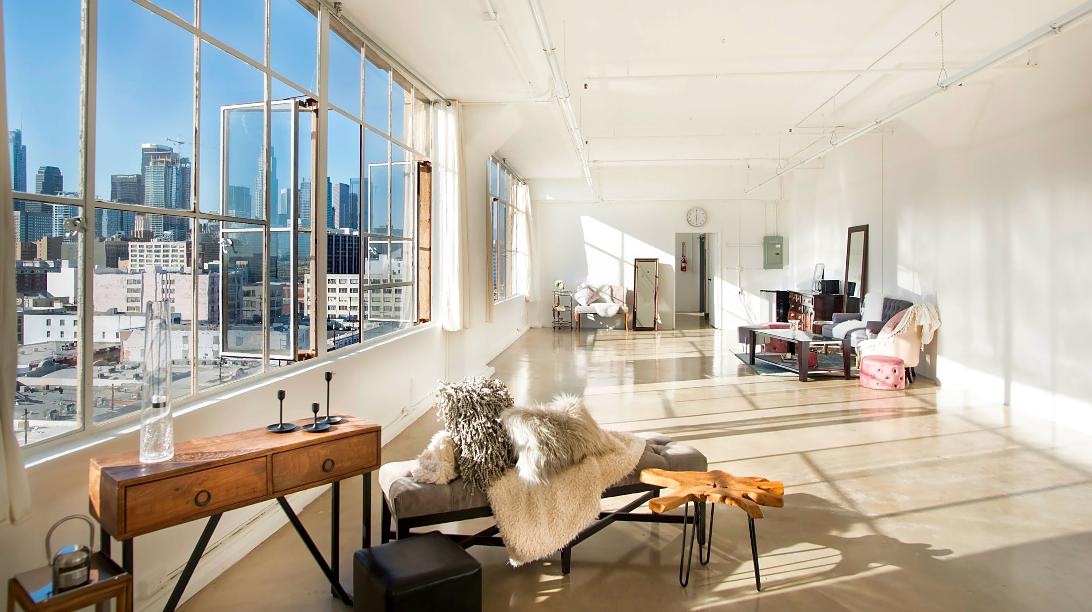 studio with skyline