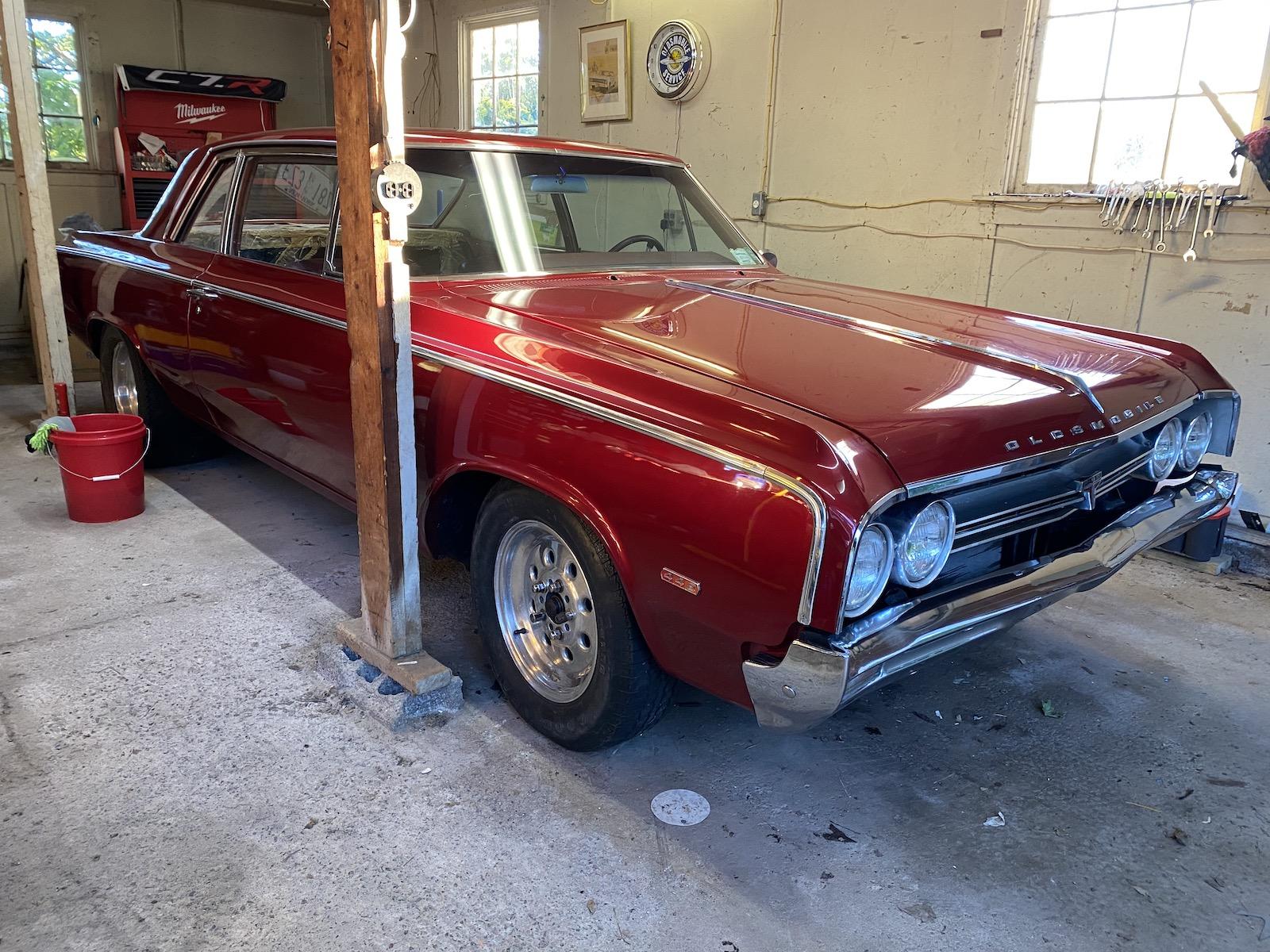 1964 oldsmobile f-85 in garage