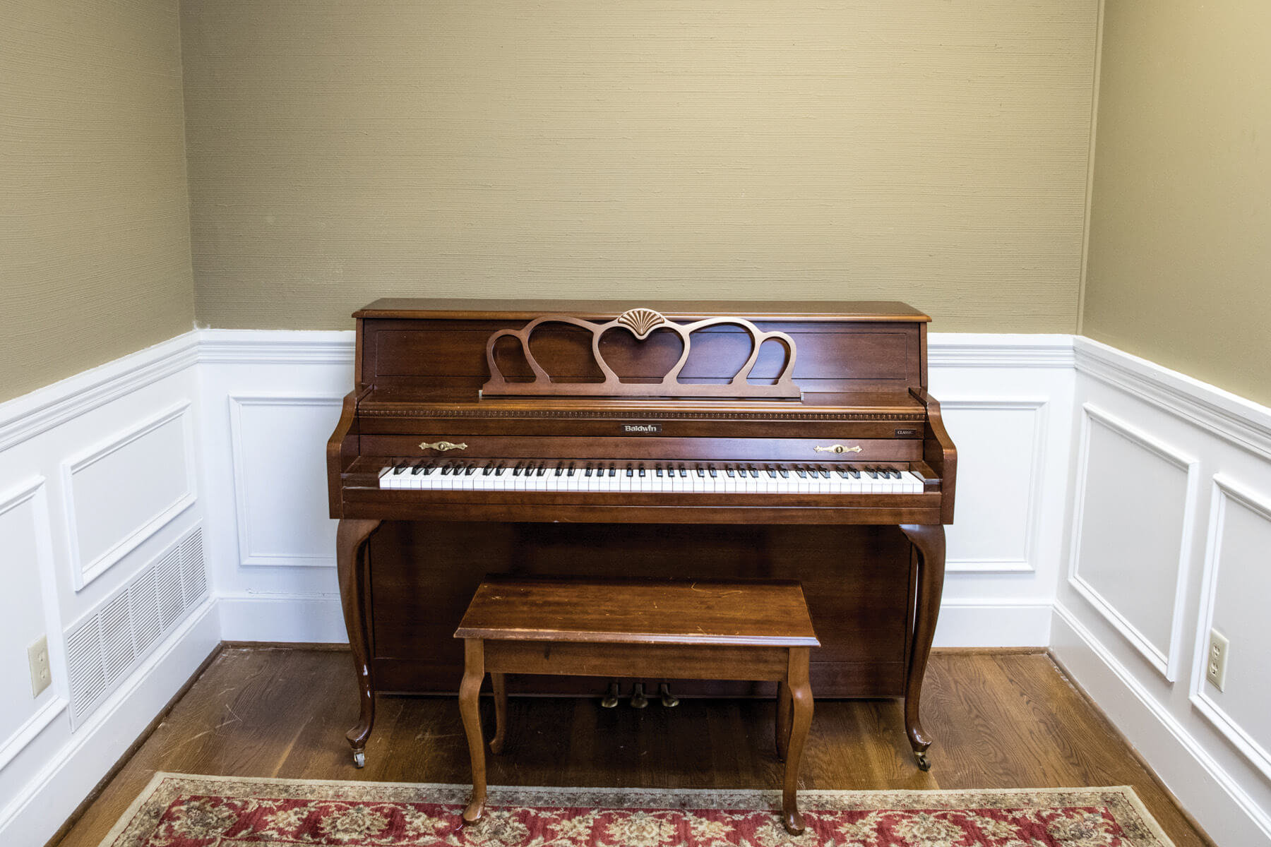 Upright piano at Irmo Music Academy