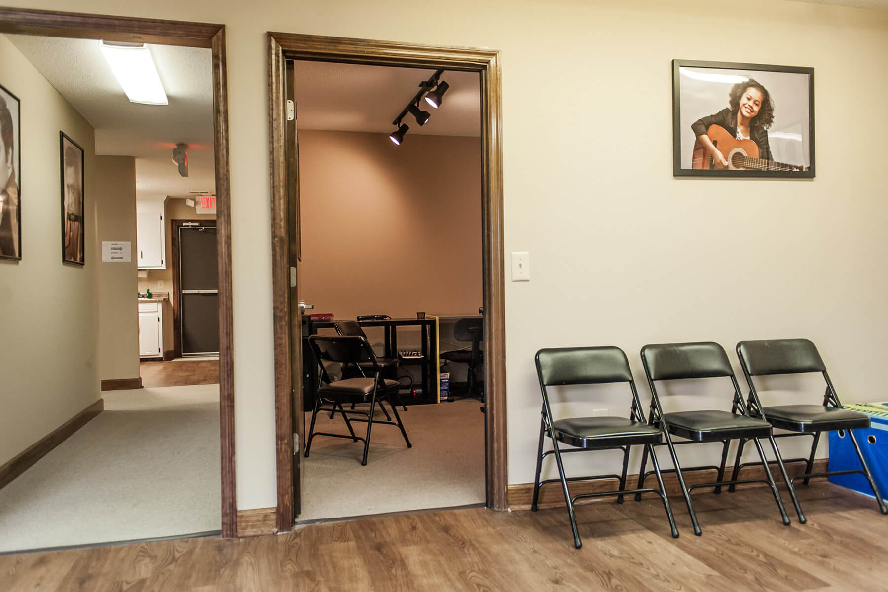 Lexington School of Music office waiting area