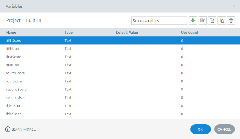 Storyline variable manager for xAPI leaderboard