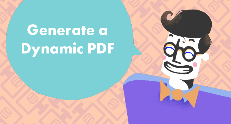 Generate a PDF certificate from eLearning tutorial cover photo
