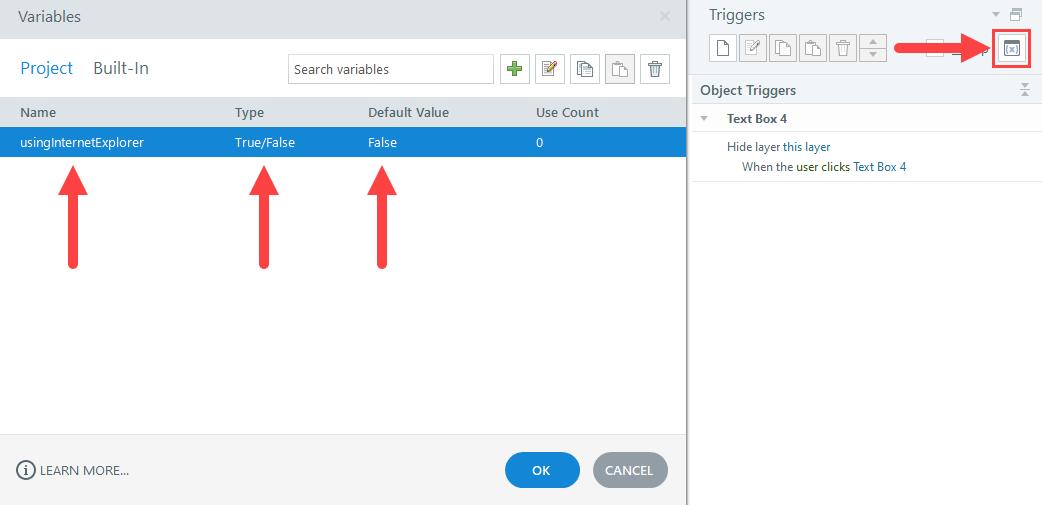 Create usingInternetExplorer Storyline variable