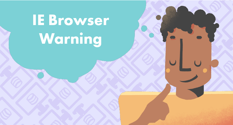 Internet explorer browser warning for eLearning tutorial cover photo
