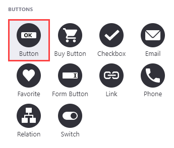 Select the button icon to add a button component