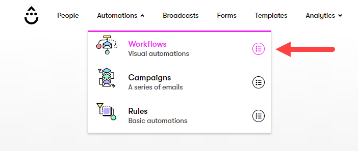 Select Workflows in Drip