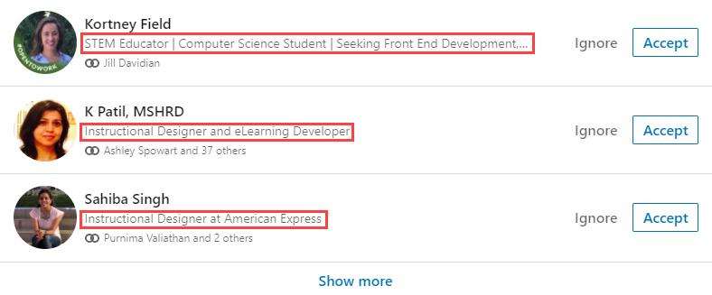LinkedIn tagline example