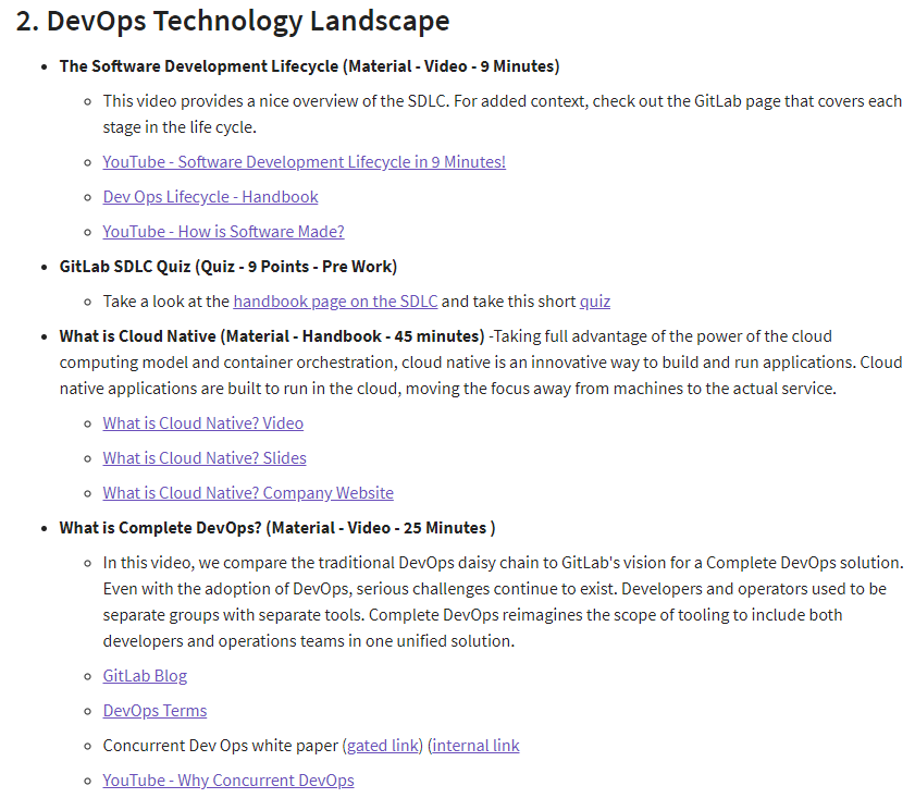 GitLab training wiki example