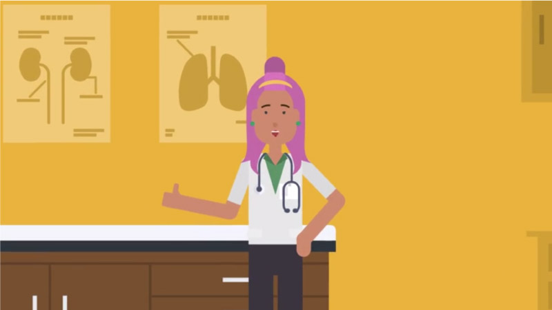 Occupational health nurse eLearning scenario screenshot