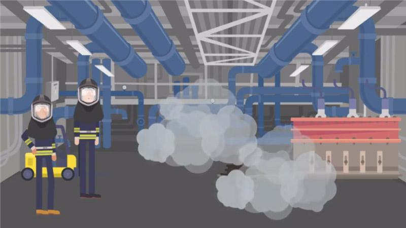 Custom illustration screenshot for eLearning scenario