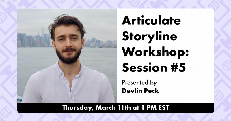 Articulate Storyline Workshop #5 Live Workshop Cover Photo