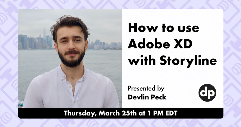 How to use Adobe XD with Articulate Storyline Live Workshop Cover Photo