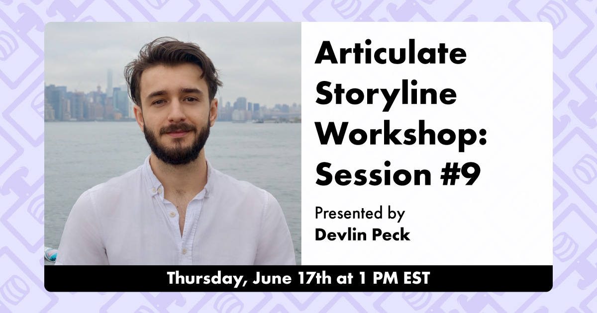 Articulate Storyline Workshop Session #9 Live Event Cover Photo