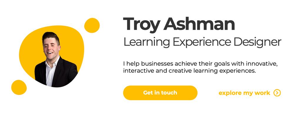 Troy Ashman website hero section