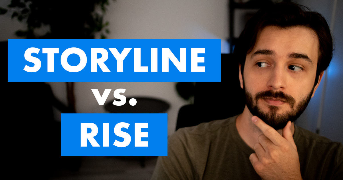 Articulate Storyline 360 vs. Rise 360 video cover photo