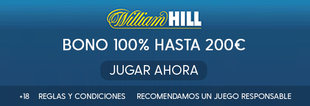 William Hill  Bono 100% hasta 200€ casa de apuestas y pronosticos en Mentar.es