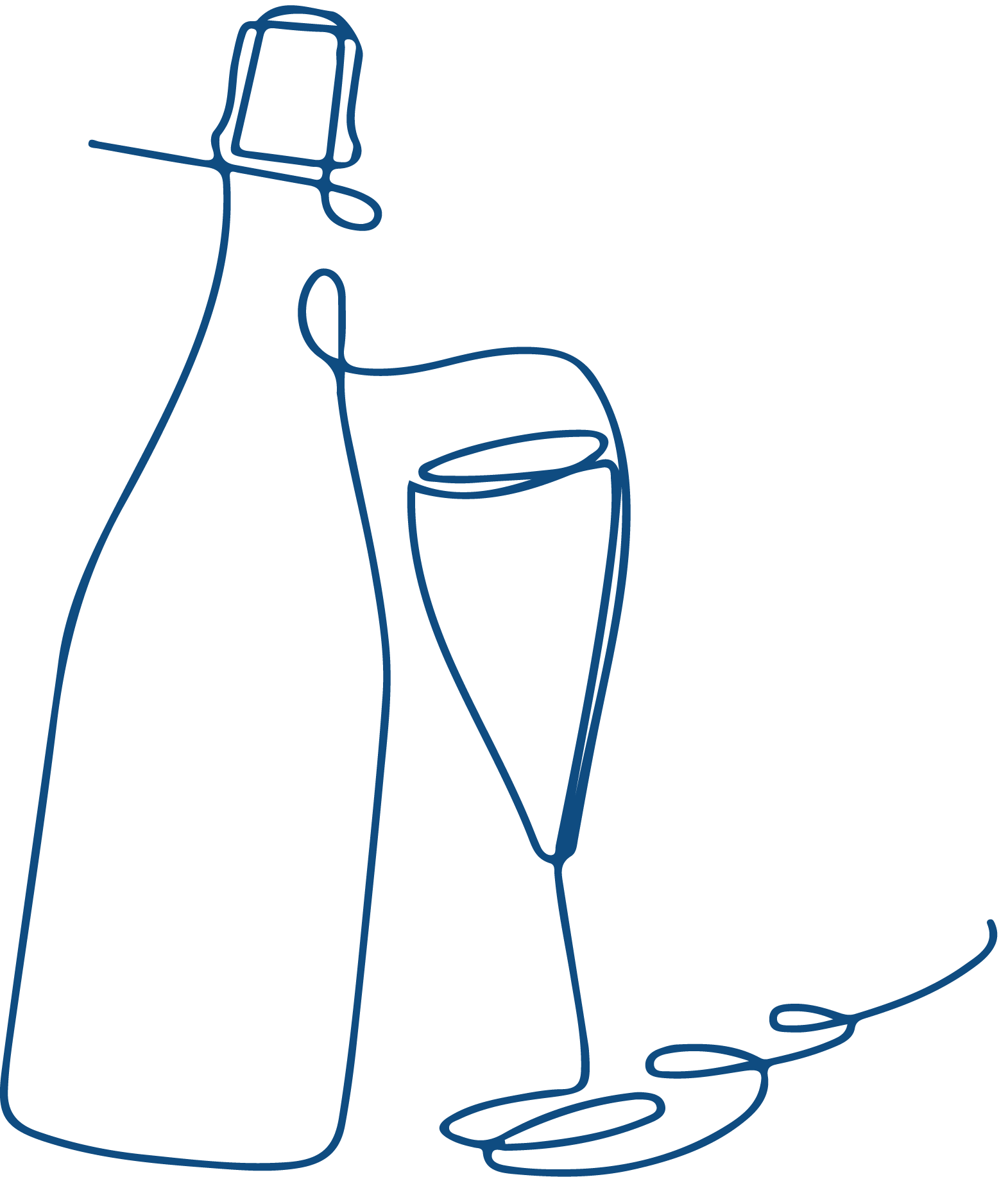 Wine Bottle Line Drawing