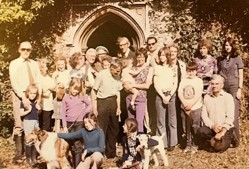 Working party at the church in the 1970's