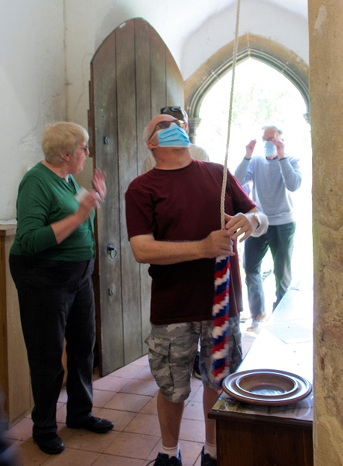 Ringing the Bell at St. Mary's
