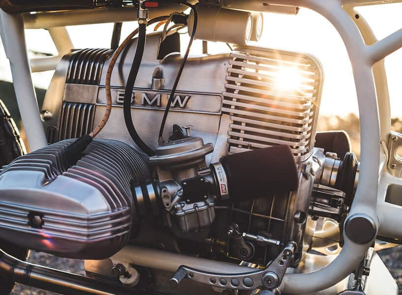 BMW R80 MOTORCYCLE Engine closeup