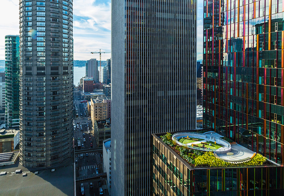 Amazon Spheres Rooftop