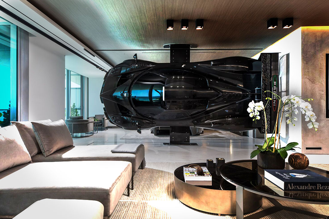 Residence with a full-size Pagani Zonda