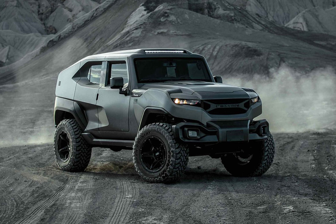 Rezvani tank X is the tactical vehicle that go beyond any expectations