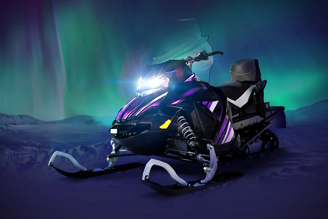Aurora Powertrains Electric Snowmobile