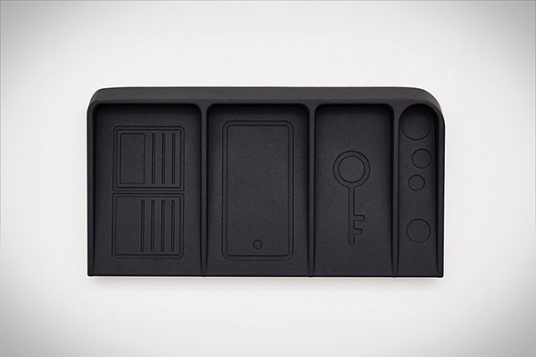 Black Metal Valet Tray by DOIY Design