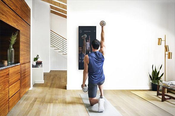 The Mirror Brings Tech to your Home Gym
