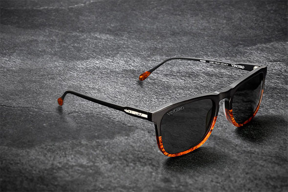 The Midway Matte Black/Walnut Sunglasses