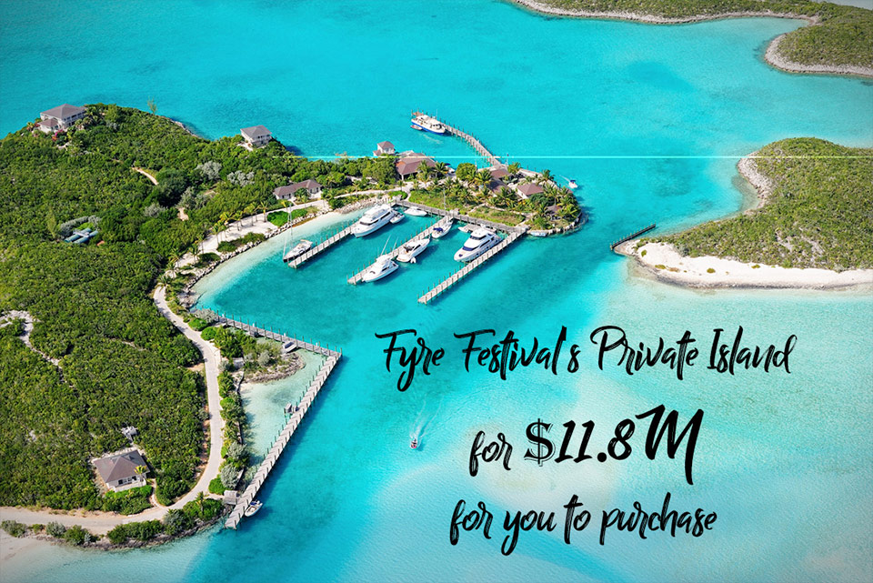 The Fyre Festival Private Island presently for sale for $11.8M