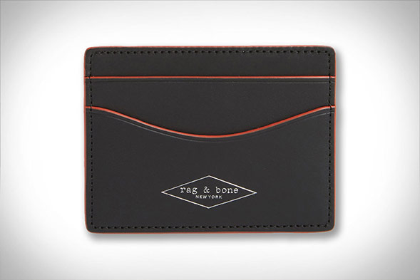 Rag & Bone Men's Hampshire Leather Card Holder