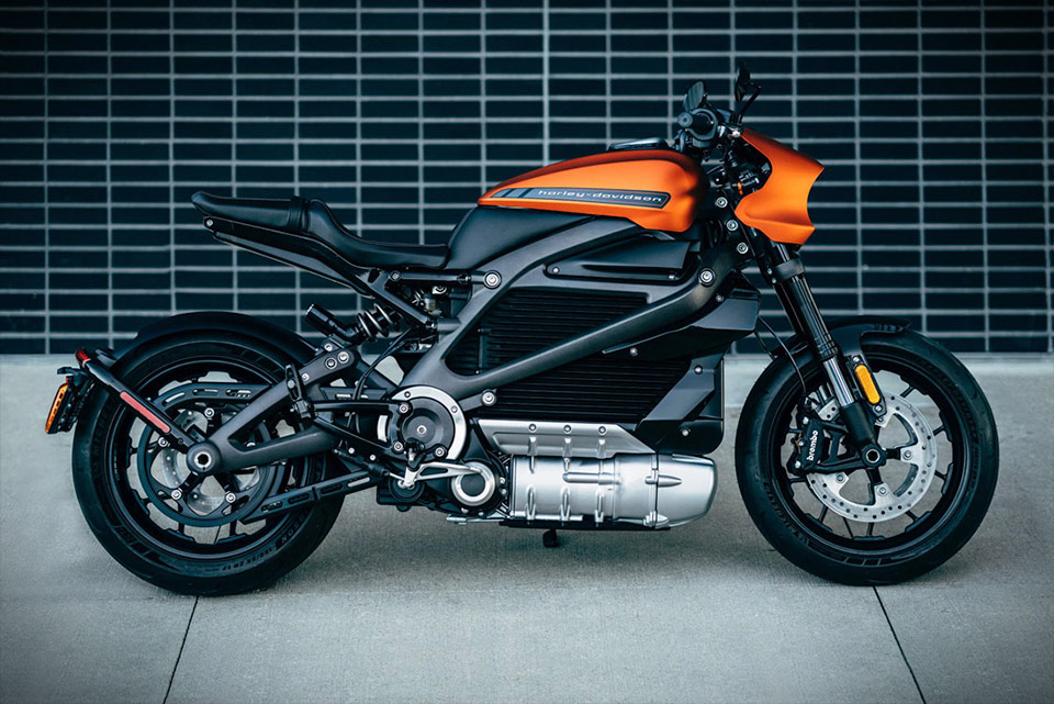 LiveWire electric motorcycle by Harley Davidson