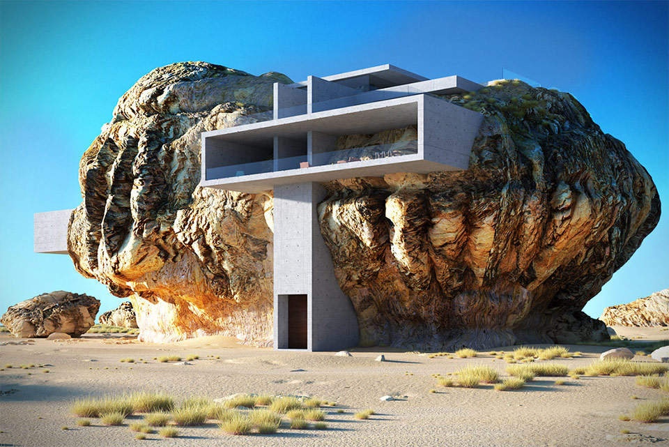 House Inside a Rock Concept is enormously amazing