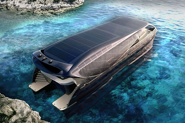 Solarimpact Yacht it's like a present for Tony Stark