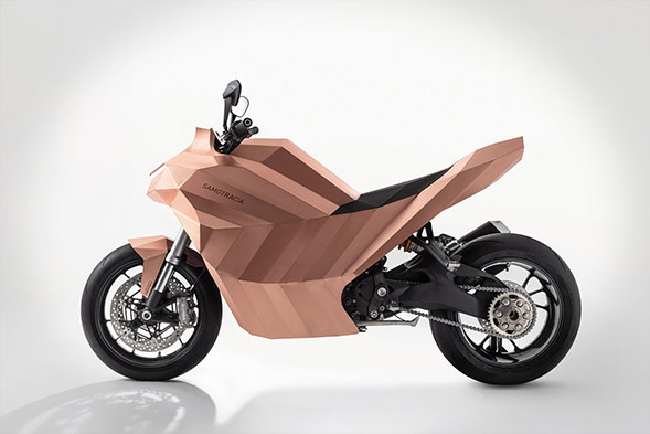 Samotracia copper is a motorbike art