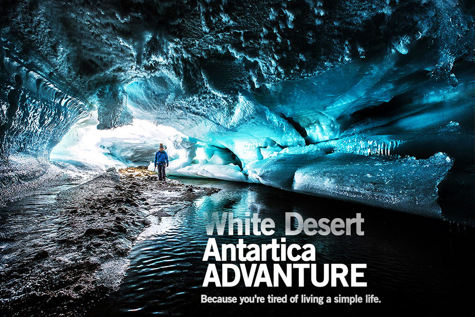 The White Desert antarctic is a lifetime journey