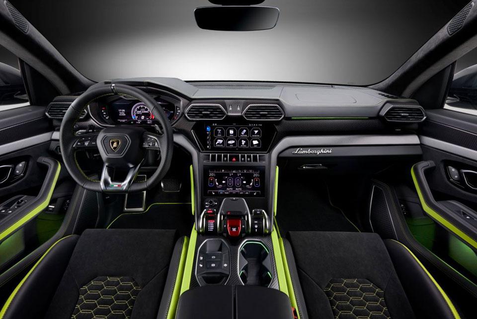 LAMBORGHINI URUS GRAPHITE CAPSULE SUV front interior