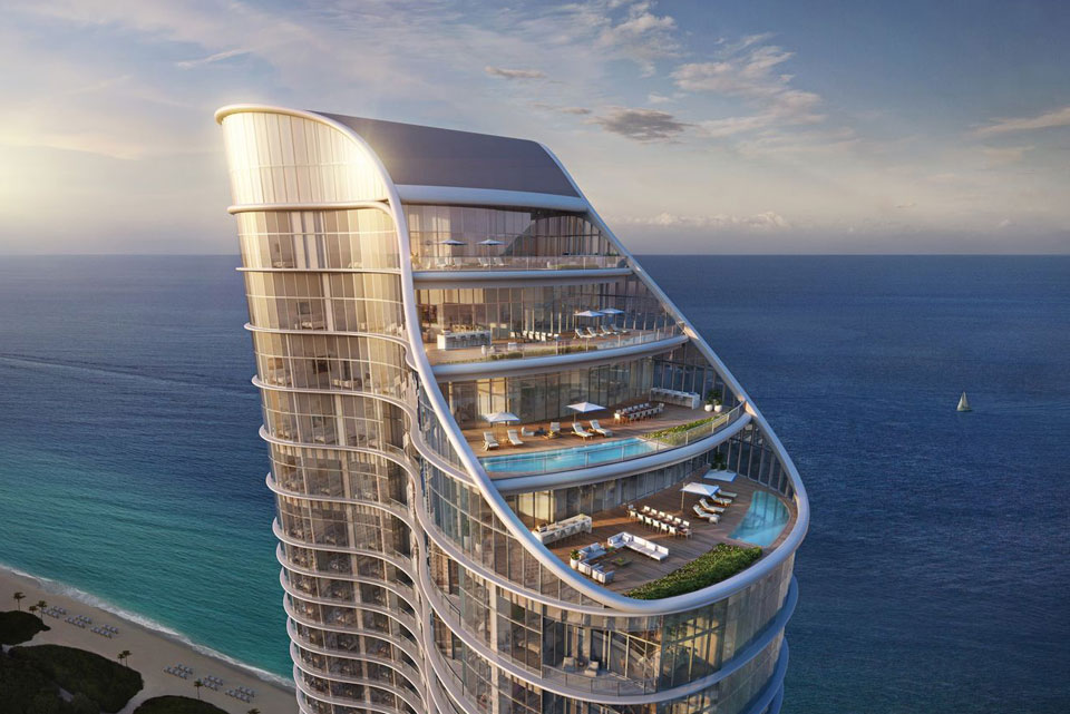 The $21M Ritz-Carlton Penthouse in Sunny Isles Beach, Florida is breathtaking