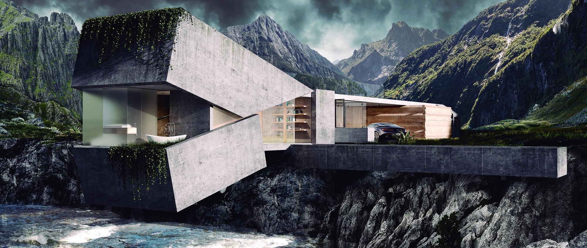 WTBA House cliff