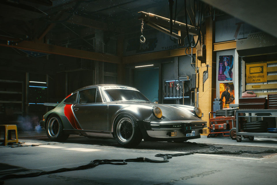 Cyberpunk 2077 x 1977 Porsche 911 Turbo