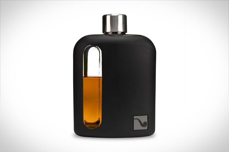 Black Silicone Glass Flask By Ragproper