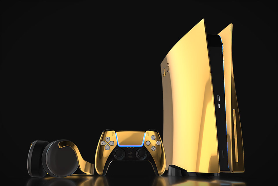 24K Gold Sony PlayStation 5
