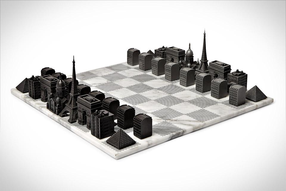 Paris Skyline Chess Set