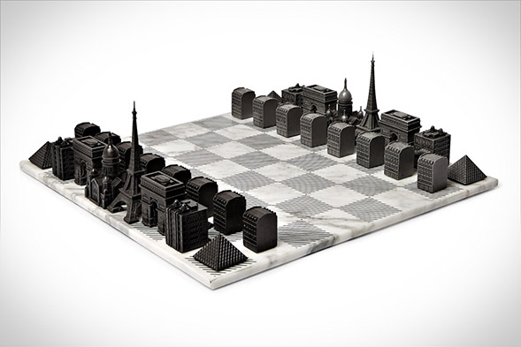 Paris Skyline Chess Set