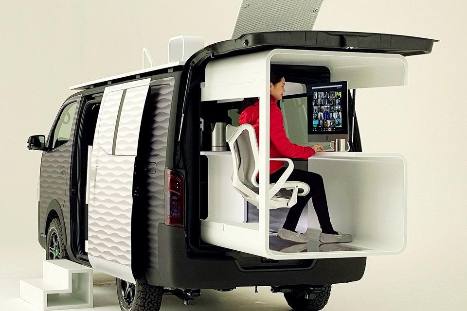 Nissan NV350 Caravan Office Pod Concept