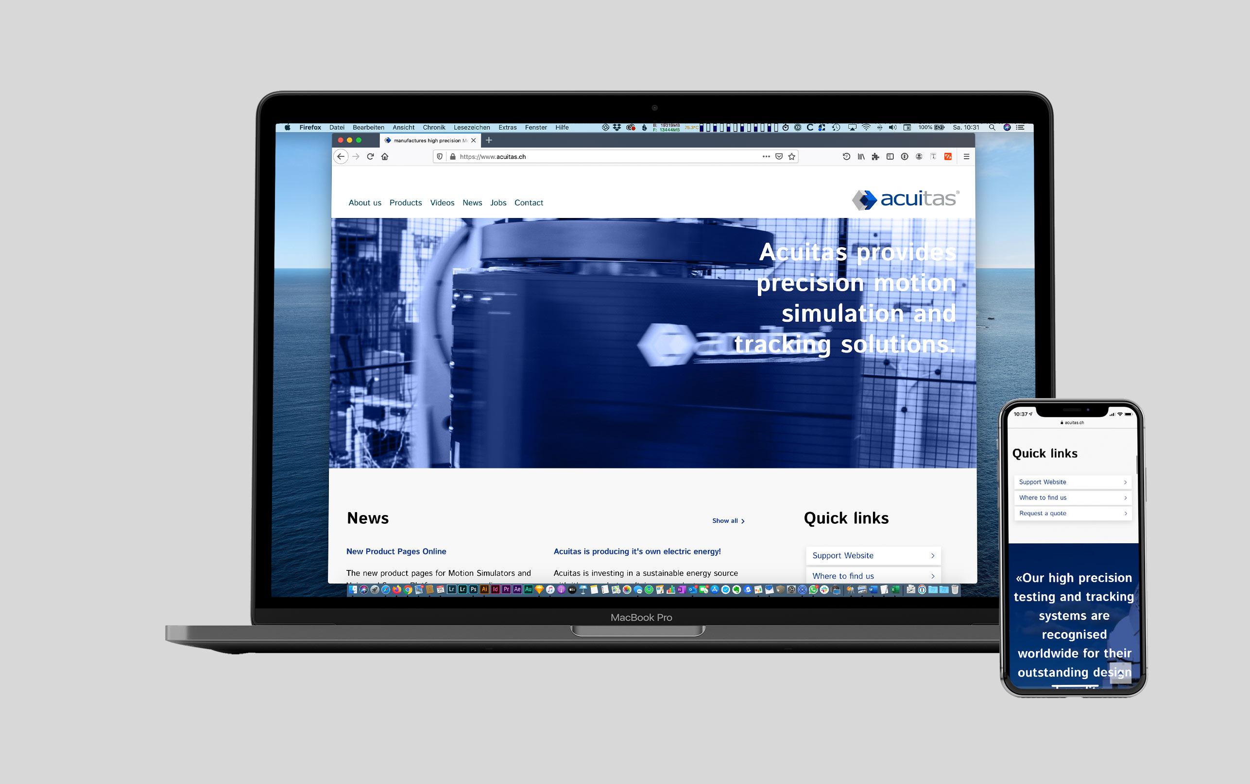 Acuitas responsive Web Design