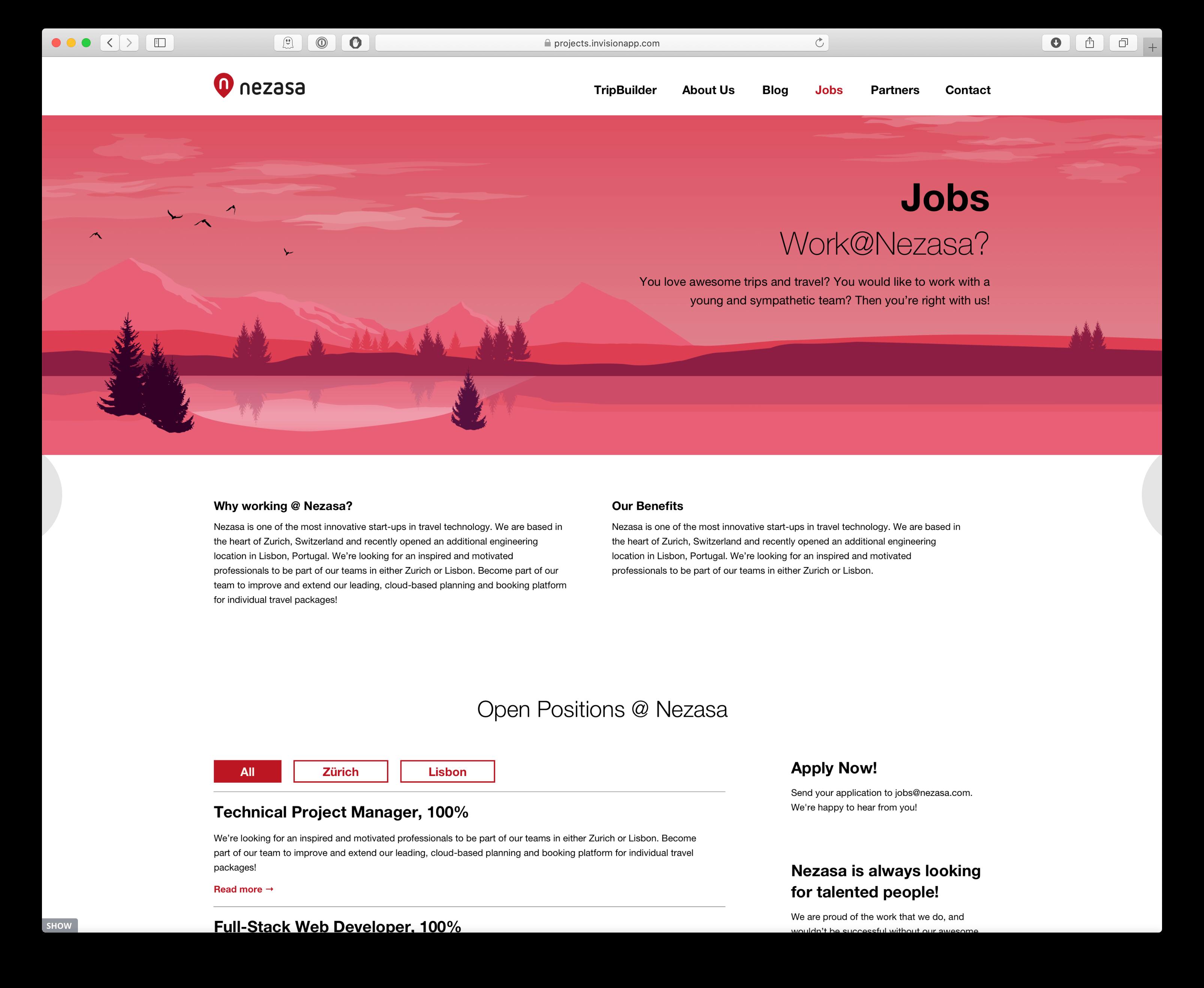 Jobangebote Layout